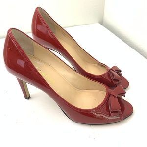Enzo Angiolini Red High Heeled Pumps 7.5